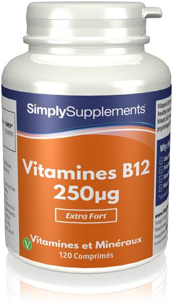 Simply Supplements Vitamine B12 250mcg - 120 Comprimés