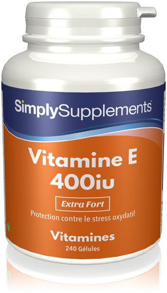 Simply Supplements Vitamine E 400iu - 240 Gélules