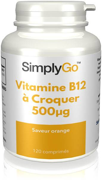 Simply Supplements Vitamine B12 à Croquer 500µg - 120 Comprimés