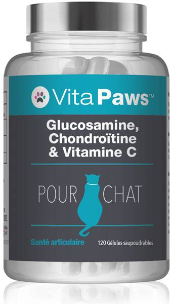 Simply Supplements Glucosamine, Chondroïtine & Vitamine C pour chat - 120 Gélules