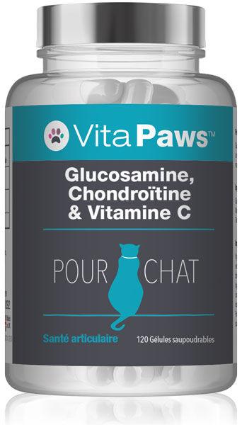 Simply Supplements Glucosamine, Chondroïtine & Vitamine C pour chat - 120 Gélules