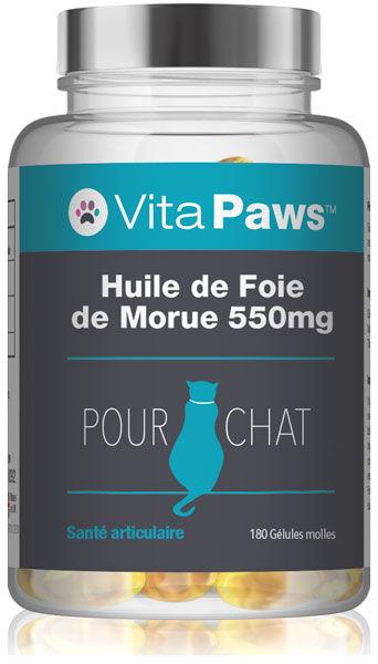Simply Supplements Huile de Foie de Morue 550mg pour chat - 180 Gélules
