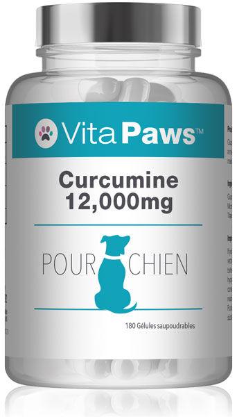 Simply Supplements Curcumine 12000mg pour Chien - 180 Gélules