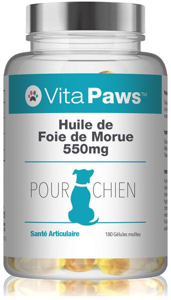 Simply Supplements Huile de Foie de Morue 550mg pour chien - 180 Gélules
