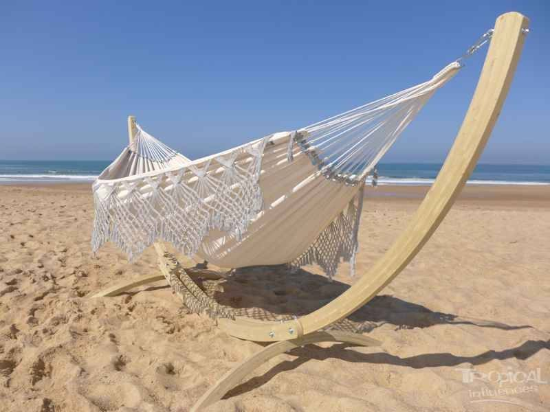 Tropical Influences Support hamac Maya + Priscilia XXL Cendres