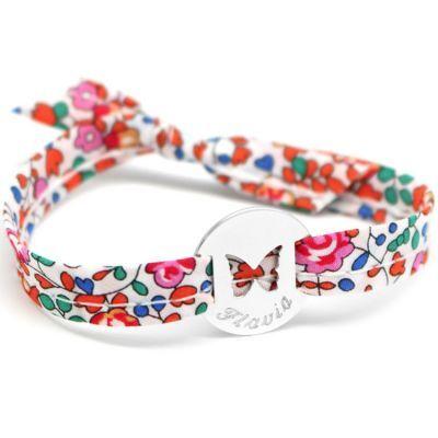 Bracelet Liberty ruban papillon personnalisable (argent 925°)