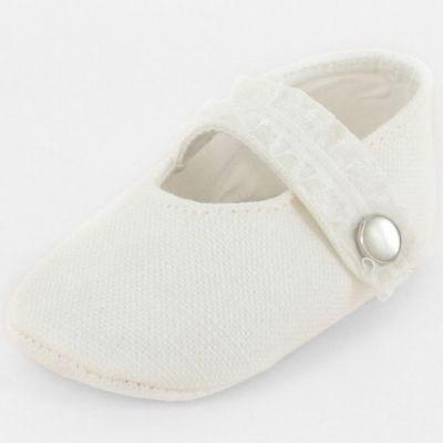 Chaussons bébé prestige ballerine Précieuse bouton nacre (0-6 mois)
