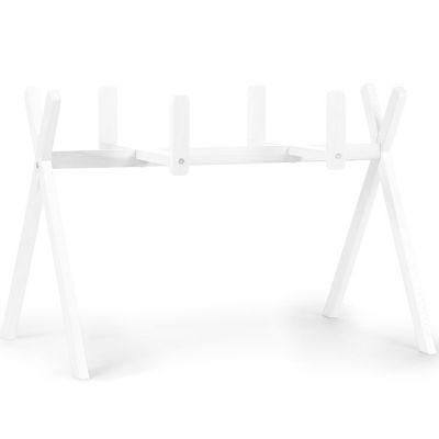 Support de couffin évolutif 2 en 1 en bois de hêtre blanc