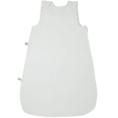 BIO + Gigoteuse chaude en coton bio froissé blanc TOG 2.5 (90 cm)
