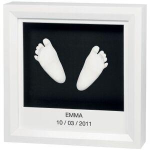 Cadre empreinte 3D My Little Steps blanc - Publicité