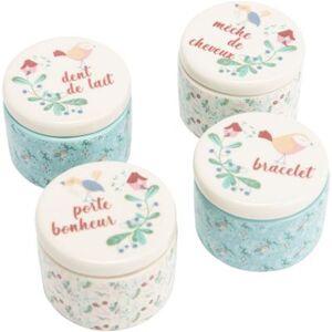 Lot de 4 boîtes à souvenirs bébé Lili - Publicité