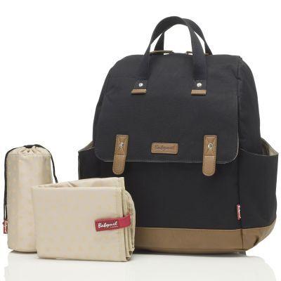 Le sac à langer Robyn convertible en sac à dos backpack noir de la marque Babymel est très pratique par sa polyvalence : il permet d'être porté en sac-à-dos, sur l'épaule, en bandoulière ou à la main.Ses multiples poches vous permettront de ranger tout ce dont vous avez besoin. Vous aurez également une poche