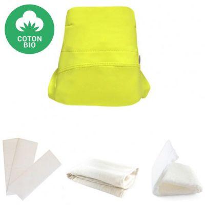 BIO + Kit couche en coton bio Green Banana 4 pièces (Taille L)