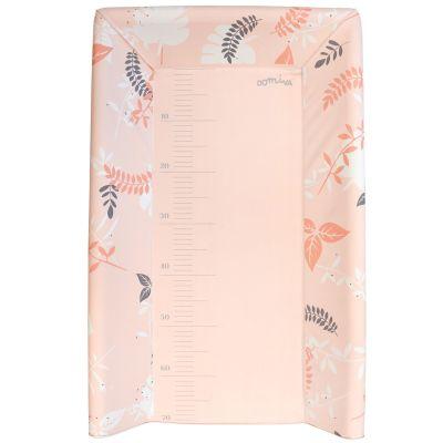 Plan à langer avec matelas rose (pour lits 60 x 120 cm et 70 x 140 cm)