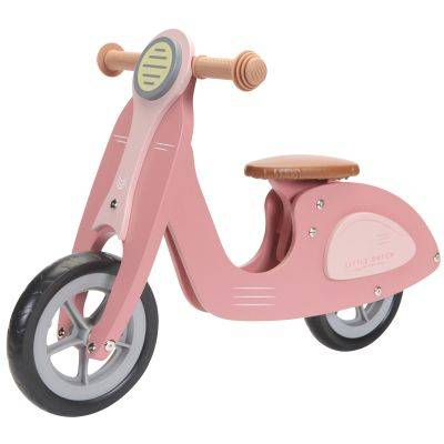 Draisienne scooter en bois pink