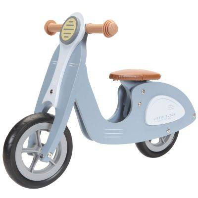 Draisienne scooter en bois blue