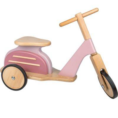 Draisienne Scooter en bois rose
