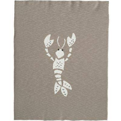 BIO + Couverture en coton bio homard gris (80 x 100 cm)