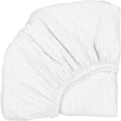 Drap housse pour lit bébé Kimi blanc (60 x 120 cm)
