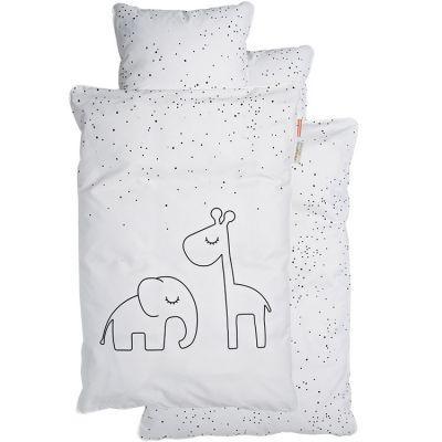 Housse de couette (100 x 140 cm) et taie (40 x 60 cm) Dreamy Dots blanc