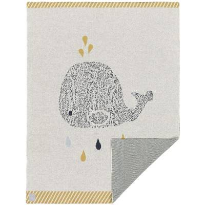 BIO + Couverture en coton bio baleine Little Water