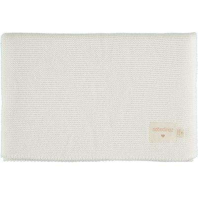 Couverture bébé tricotée blanche So Natural (70 x 90 cm)