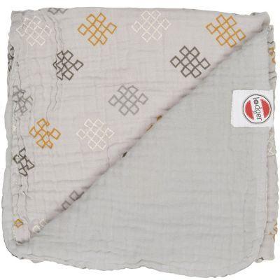 Couverture bébé en coton Dreamer Xandu Mist gris (120 x 120 cm)