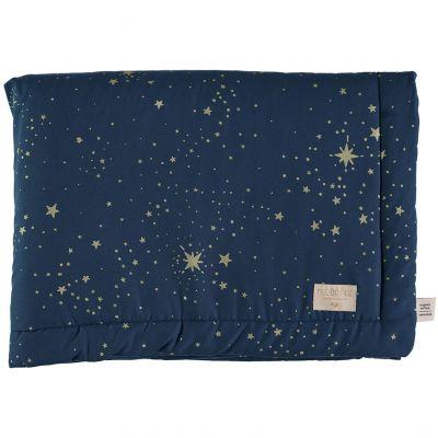 Mini couverture bébé Laponia coton bio Gold stella Night blue (70 x 70 cm)