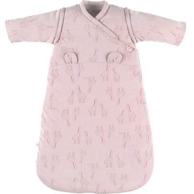 BIO + Gigoteuse en jersey bio chaude Mix & Match rose TOG 1-2 (70 cm)