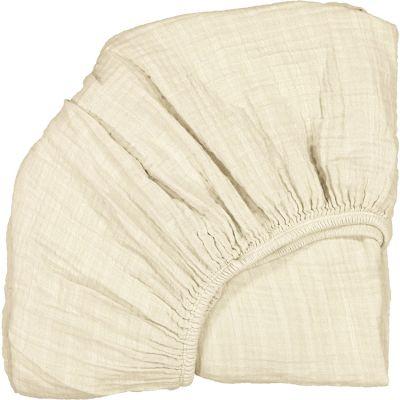 Drap housse pour lit bébé Kimi milk (60 x 120 cm)