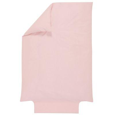 Housse de couette en coton bio rose pétale (100 x 140 cm)
