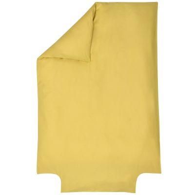 Housse de couette en coton bio jaune or (100 x 140 cm)