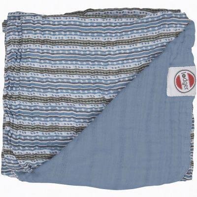 Couverture bébé en coton Dreamer Xandu Ocean rayure bleu (120 x 120 cm)