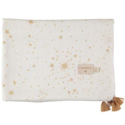Couverture d'été bébé Gold stella blanc (70 x 100 cm)