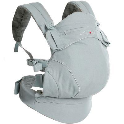 BIO + Porte bébé Flexia coton bio gris clair