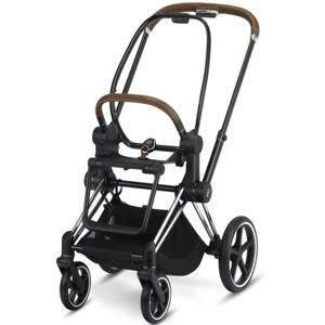 Châssis pour poussette à assistance électrique e-Priam Chrome avec détails marron - Publicité