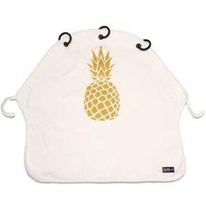Protection pour poussette Baby Peace Ananas or et blanc en coton bio - Publicité