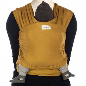 Echarpe de portage Tricot-Slen coton bio amber gold - Publicité