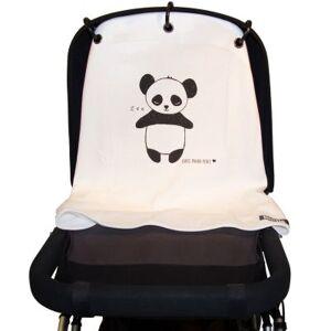 Protection pour poussette Baby Peace coton bio Panda noir et blanc - Publicité