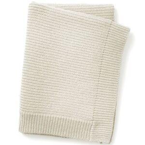 Couverture en coton et laine crème Vanilla White (100 x 70 cm) - Publicité