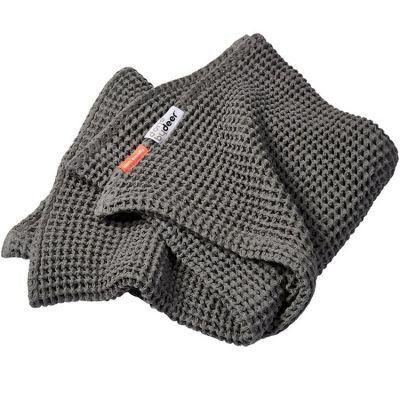 Couverture bébé en coton gaufré grise (80 x 100 cm)