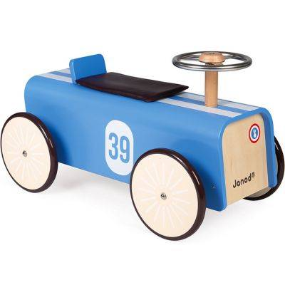 Porteur voiture bleue