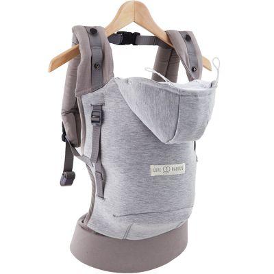 Porte bébé HoodieCarrier gris athlétique