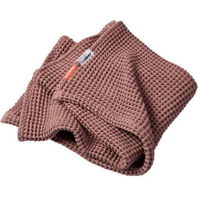 Couverture bébé en coton gaufrée rose (80 x 100 cm)