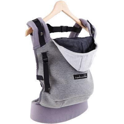 Porte bébé HoodieCarrier gris flanelle