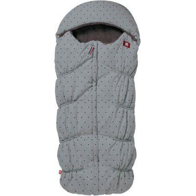 Chancelière poussette gris chiné à pois Dots (100 cm)
