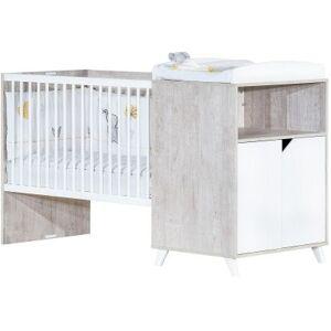 Lit bébé combiné évolutif Scandi gris (60 x 120 cm) - Publicité
