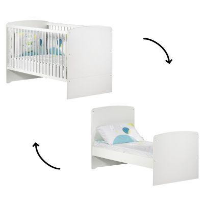 Lit bébé évolutif New Basic Little Big Bed blanc (70 x 140 cm)