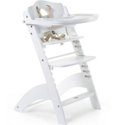 Chaise haute évolutive en bois Lambda 3 blanc