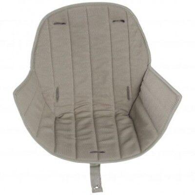 Assise tissu chaise haute Ovo Luxe beige